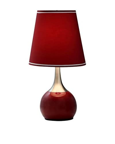 ORE International 23 Modern 1-Light Touch Lamp, Red