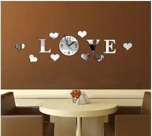 new new diy 3d home decoration wall clock big mirror wall clock modern designlarge