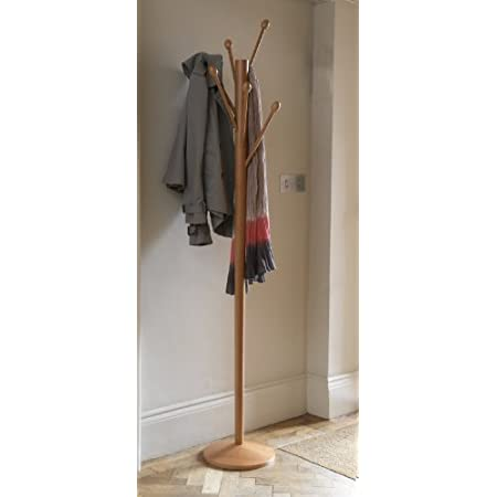 Tree Coat Stand with scarf and jacket