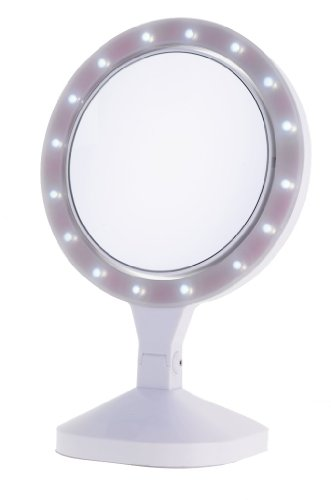 Danielle Enterprises Ultra Led Beauty Vanity Mirror 10X, White, 8 Inches X 15.75 High front-521158