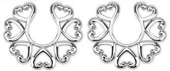 Body Accentz Nipple Rings Nipple Rings non pierce pair Non-Piercing Clip On Nipple Ring / Heart Design pair HO1950 at Sears.com