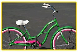 Aluminum Alloy Anti-Rust Frame, Fito Brisa Alloy 1-speed - Apple Green/Pink, women's 26