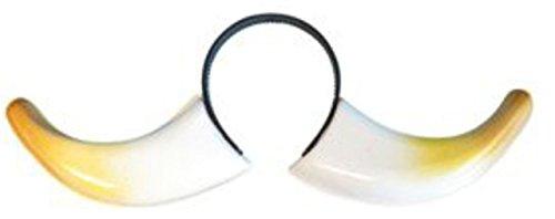 Pams-Cappello per festa di carnevale di parti del corpo in Pvc a forma di corna da toro su cerchietto
