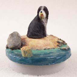 Bearded Collie Candle Topper Tiny One \
