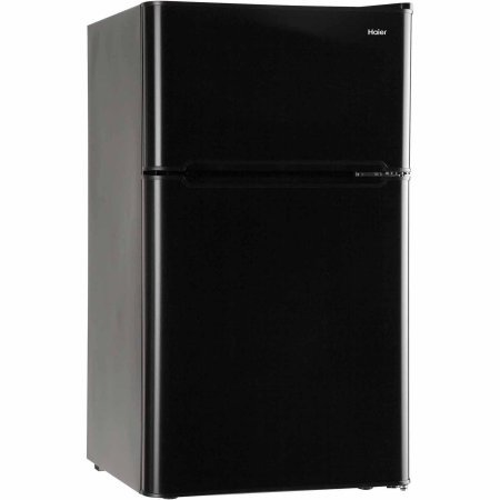 3.2 Cubic Feet 2-Door True-Freezer Compartment, Refrigerator, Black (Haier 2 Door Fridge compare prices)