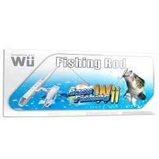 Nintendo wii compatible fishing pole with for Wii fishing rod