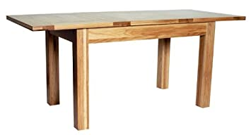 Hereford Rustic Oak Extending Dining Table -1250-1800mm