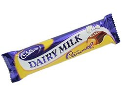 Cadbury Dairy Milk with Caramel Bar 49g Pack of 6