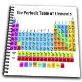 3dRose db_108318_1 le tableau périodique des éléments  1 carnet à dessin, 8 x 20,3 cm...
