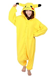 Amour - Sleepsuit Pajamas Costume Cosplay Homewear Lounge Wear (M, Pikachu)