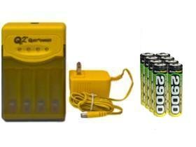Quest Q2 Smart Charger & 8 Aa 2900 Mah Nimh Accupower Batteries (Quest Q2 compare prices)