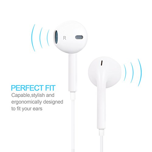 EverDigi-2-Pack-Earphones-Earbuds-Headphones-with-Mic-Volume-Control-on-the-iOS-and-Android-Devices-For-iPhone-6-6s-6-Plus-6s-plus-iPhone-5s-5c-5-iPad-iPod-White