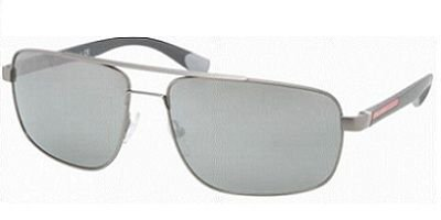 prada Prada Sport 55NS 7CQ7W1 Gunmetal 55NS Square Aviator Sunglasses Lens Category 3