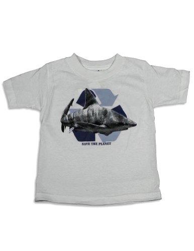 Mis Tee V-Us - Little Boys Short Sleeve Shark T-Shirt, White 25398-2T front-259766
