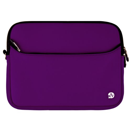 Treasure Purple Neoprene Laptop Sleeve for Acer Aspire One AOD270 10.1-inch Netbook PC