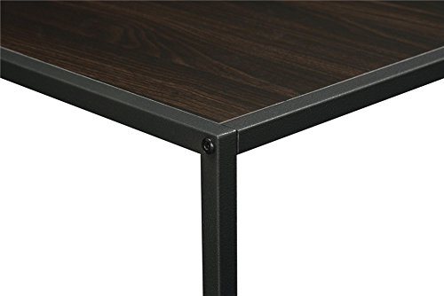 Altra canton coffee table with metal frame espresso for Table 6 in canton