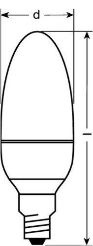 Osram 26805B1  Parathom LED Classic B, E14 80096-01 LED-Lampe in Kerzenform 1.6W/100V-240V, warmweiß