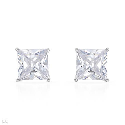 Earrings With 14.50ctw Cubic zirconia Beautifully Crafted in 925 Sterling silver