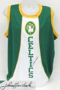 John Havlicek Autographed Jersey - Green Majestic Hardwood Classics SI - Autographed... by Sports Memorabilia