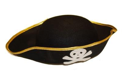 Kid Black Pirate Hat