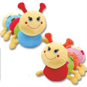 "15"" Plush CATERPILLAR Rattle - INFANT - Baby Shower GIFT - KEEPSAKE Crib TOY - 1"