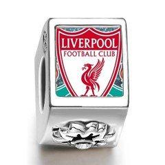 Liverpool Fc Soccer Logo Flower Silver Photo Charm Amazon