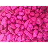 """25kg Pinkk """"B"""" Size Pebbles For Garden Decor Plant Home Decor Backyard Patio Pathway Indoor And Outdoor Gravel Soil Stone Pebbles Chips Decoration Fish Tank Substrate"""