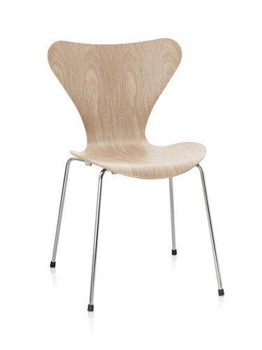 Fritz Hansen - Serie Sieben 3107 - Holzfarben - Eiche - Arne Jacobsen - Design - Esszimmerstuhl - Küchenstuhl - Speisezimmerstuhl