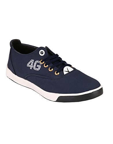 Footstamp Blue Casual Lace Up Shoes