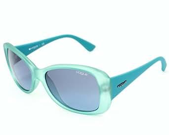 Vogue Rectangular Sunglasses (Transparent Turquoise) (VO2843S_21528F_56)