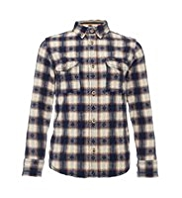 Pure Cotton Jacquard Checked Shirt