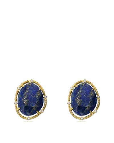 Riccova Faceted Lapis Earrings with CZs