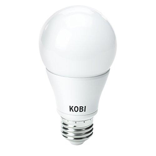 Kobi Electric K0M1 4-Watt (25-Watt) Omni Directional A19 Led 5000K Cool White Light Bulb, Dimmable