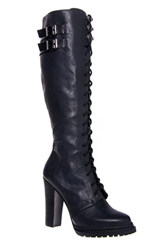 March Lace-Up High Heel Boot