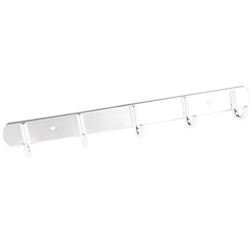 "Home Wall Mounted 5 Hooks Towel Rack Hanging Hanger 13.8"" Length"