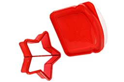 JAMMI BPA-Free Plastic Sandwich Saver and Shape Cutter for All Ages, Star Design, 3-pack