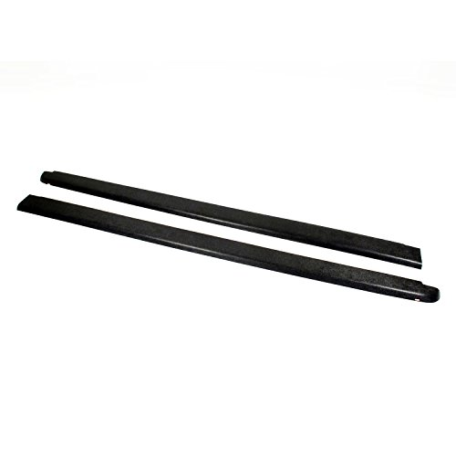 Wade 72-40401 Truck Bed Rail Caps Black Smooth Finish without Stake Holes for 1994-2001 Dodge Ram 1500 2500 3500 with 8ft bed (Set of 2) (1997 Dodge Ram Bed Rail Caps compare prices)