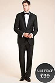 Tipped Eveningwear Slim Fit Jacket