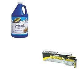 KITEVEEN91ZPEZUHLF128 - Value Kit - Zep Hardwood Floor Cleaner (ZPEZUHLF128) and Energizer Industrial Alkaline Batteries (EVEEN91)