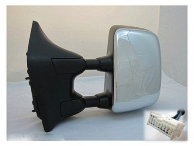 DRIVER SIDE DOOR MIRROR Fits Nissan Titan POWER WITH HEATED GLASS; CHROME; BIG TOW PACKAGE WITH MEMORY; LE MODEL; ALSO FITS 2011 SL MODEL WITH TOW (Titan Tow Package compare prices)
