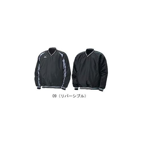 ミズノ(MIZUNO) ビューリーグ Vネックジャケット リバーシブル(ブラック×グレー) 52WW-2609 O