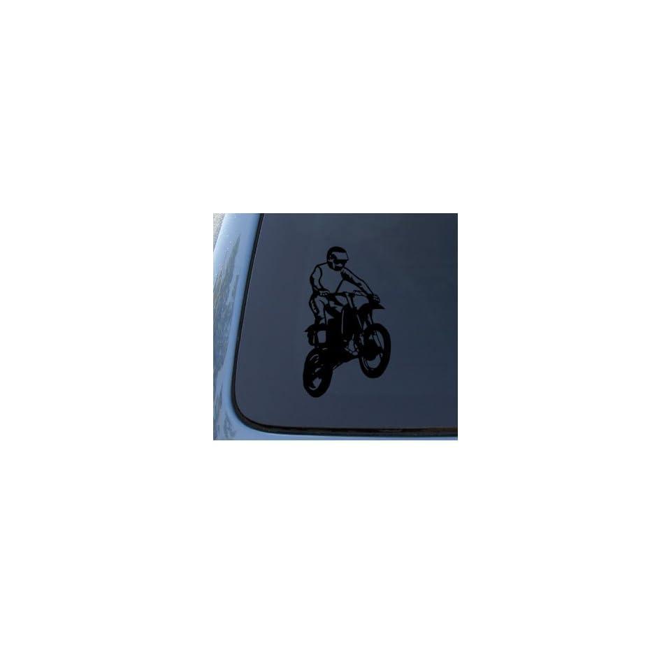 DIRT BIKE   Off Road Sport   Car, Truck, Notebook, Vinyl Decal Sticker #1192  Vinyl Color Black