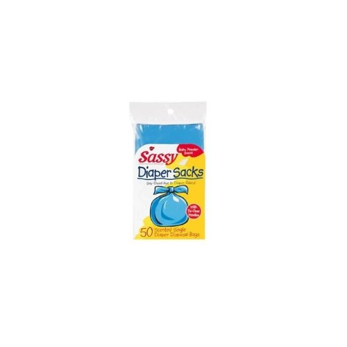 Sassy Disposable Scented Diaper Sacks-50 Cnt Pack - 1