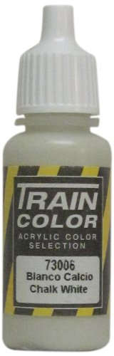 Vallejo Train Weathering Chalk White Paint, 17ml