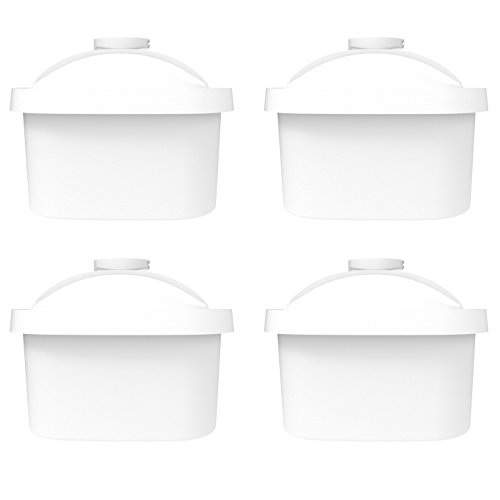 AQUACREST Pitcher Water Filter Replacement for Brita Mavea Maxtra 105731, 1001122, 106832, 4 Pack
