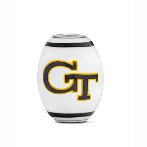 Georgia Tech Yellow Jackets Large Glass Bead Fits Most European Style Bracelets