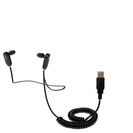 Coiled Usb Cable For The Jaybird Jf3 Freedom With Power Hot Sync And Charge Capabilities - Uses Gomadic Tipexchange Technology