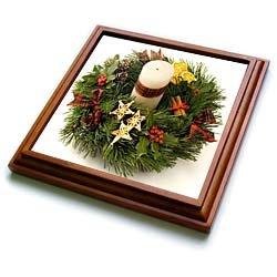 Advent Wreath - 8x8 Trivet With 6x6 Ceramic Tile