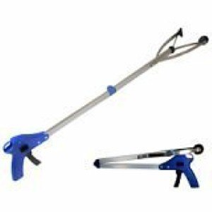 Folding Helping Hand Long-Reach Pick-Up Gripper - Light Weight Aluminum Body
