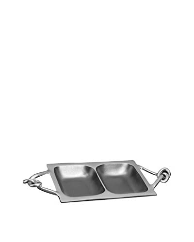 Divided Rectangle Serving Dish, Silver
